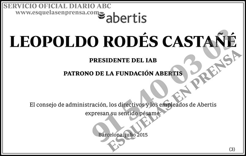 Leopoldo Rodés Castañé